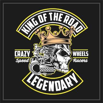 Roi de la route, emblème vintage