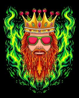 Roi de la tomate avec logo de pain d'égouttement