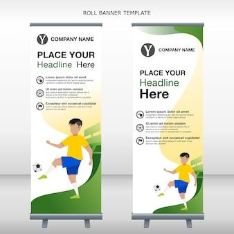 Roll banner banner brésilien football joueur dribble balle