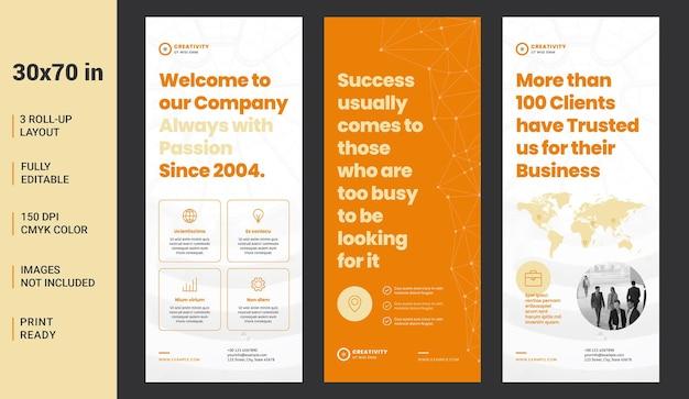 Roll up banner layout avec des connexions abstraites