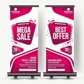 Roll up banner meilleure vente couleur moderne