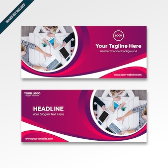 Roll up banner with gradient moderne