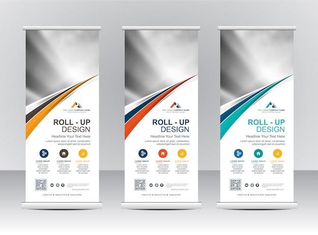 Roll up bannière design de modèle