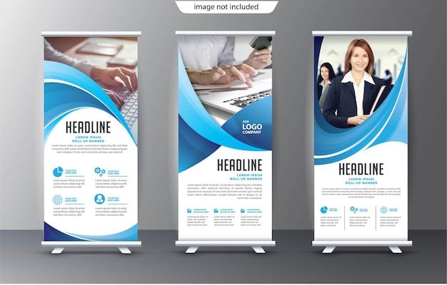 Roll up business template pour la promotion du stand