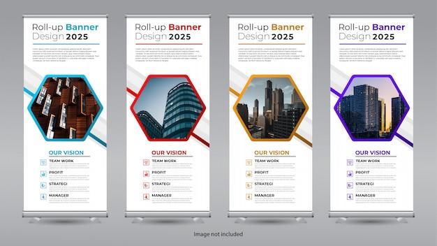 Roll up design de bannière