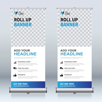 Roll up modèles de conception de bannière