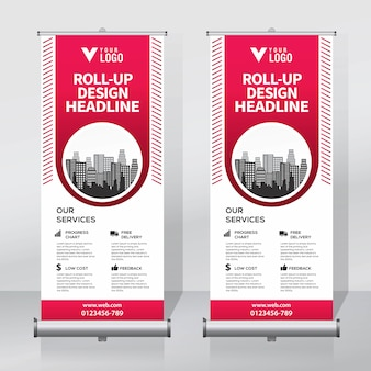 Roll up template de conception de bannière