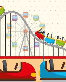 Roller coaster grande roue