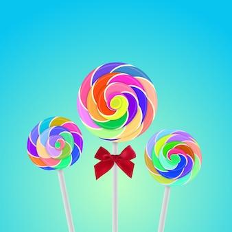 Rollipop candy coloré avec fond