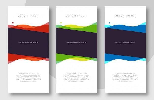 Rollup avec un style de couleur minimal pour les entreprises