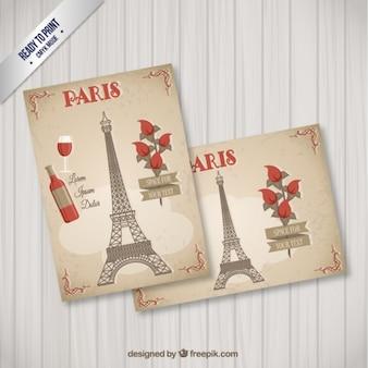 Romantique cartes postales de paris