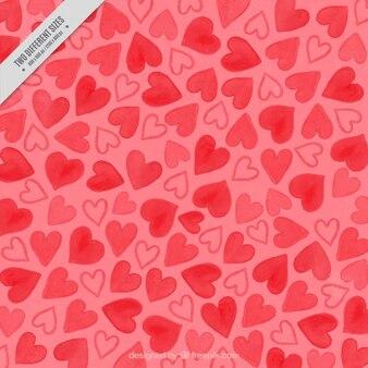 Romantique fond avec des coeurs dessinés à la main