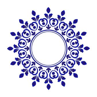 Rond ornement bleu