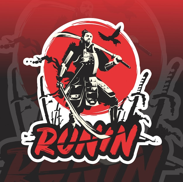 Ronin mascotte esport logo