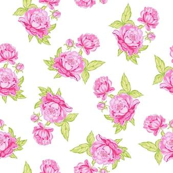 Rose fond transparent