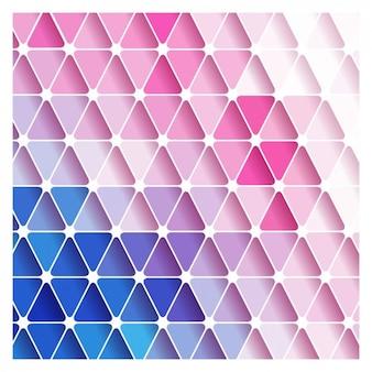 Rose et formes triangulaires bleu fond