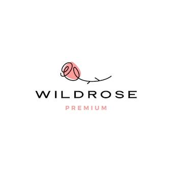 Rose icône illustration logo fleur