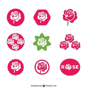 Rose icônes