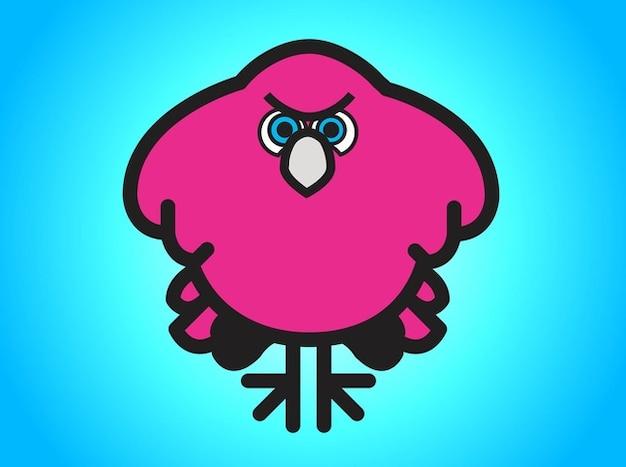 Rose illustration d'oiseaux en colère