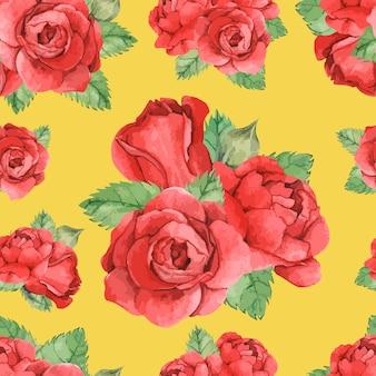 Rose rouge dessiné à la main isolé
