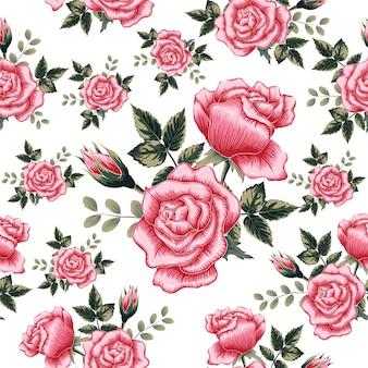 Rose transparente motif rose fleurs isoler fond.