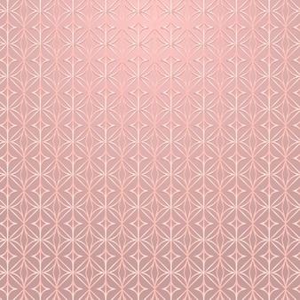 Rose transparente ronde à motifs géométriques vecteur de ressources de conception de fond