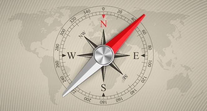 Rose des vents compas magnétique, voyage, tourisme.