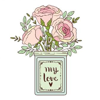 Roses en pot