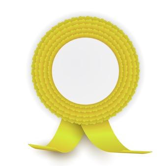 Rosette jaune colorée