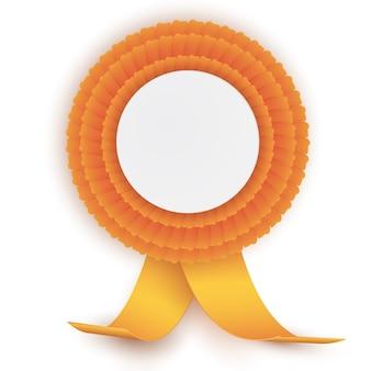 Rosette orange colorée