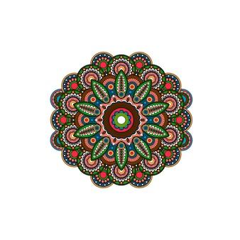Rosette d'ornement de mandala tribal
