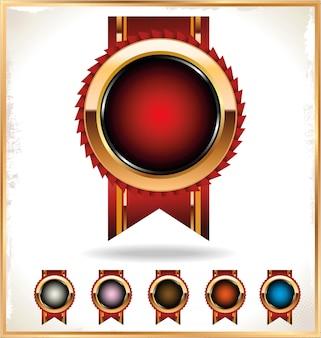 Rosette de ruban de récompense vierge