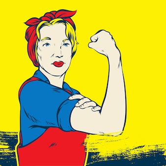 Rosie the riveter pop art