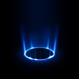 Rotation des rayons bleus avec des étincelles