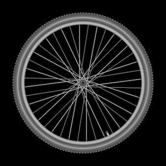 Roue de bicyclette sur illustration vectorielle de fond blanc qualité
