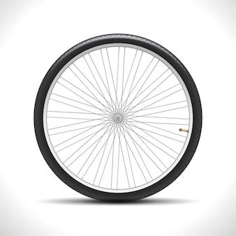 Roue de bicyclette isolée