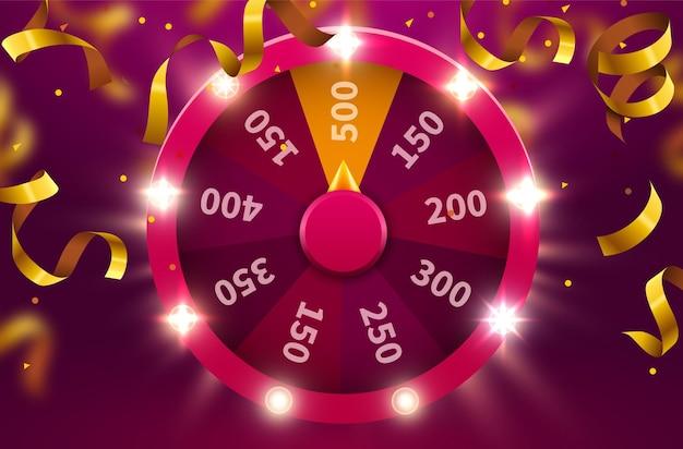 Roue de la chance ou de la fortune. jouez au hasard des loisirs. roue de jeu colorée.
