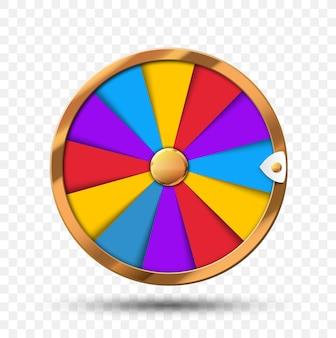 Roue colorée de la chance ou fond de casino en ligne infographie fortune