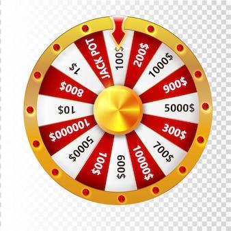 Roue colorée d'infographie de chance ou de fortune