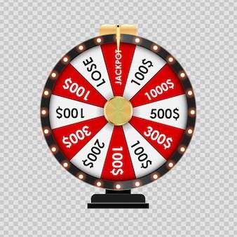 Roue de la fortune, icône de la chance sur fond transparent. illustration vectorielle eps10
