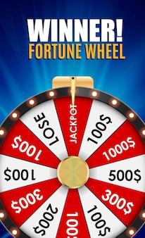 Roue de la fortune, icône porte-bonheur avec place pour le texte. illustration vectorielle eps10