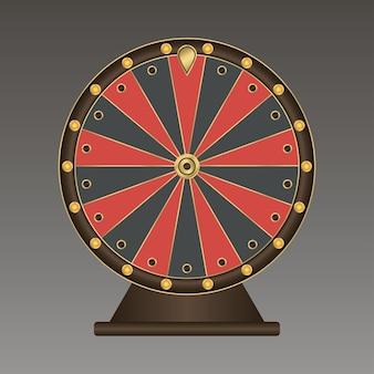 Roue de la fortune. modèle réaliste. illustration vectorielle.