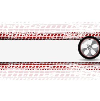 Roue et piste de pneu grunge. abstrait corporatif. conception de vecteur