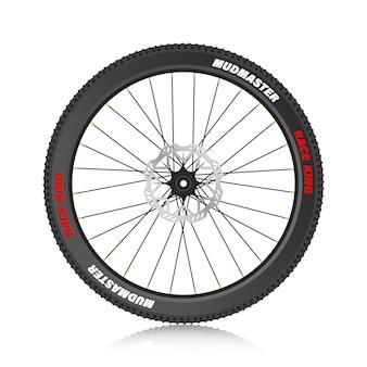Roue de vélo vélo de montagne pneu de montagne illustration