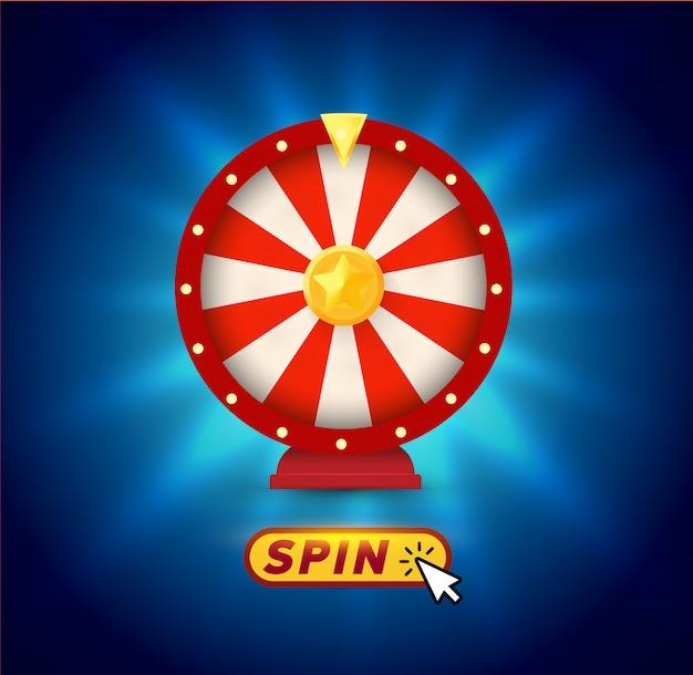 Roues de fortune. logo de jeux de hasard.