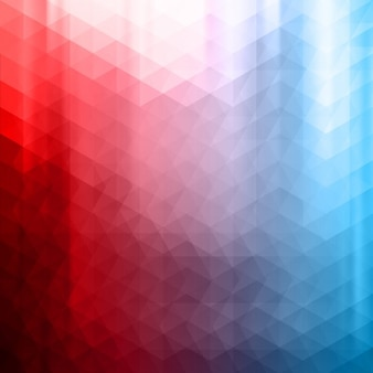 Rouge et bleu fond polygonale