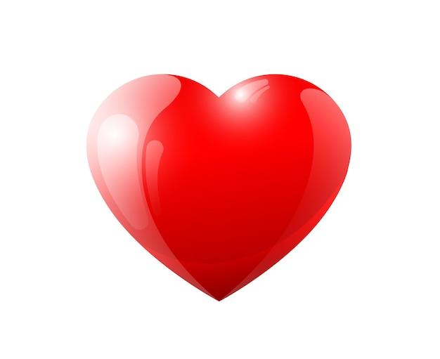 Rouge d coeur volumétrique brillant brillant amour valentine romantique sy