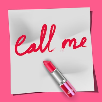 Rouge à lèvres et les mots appelez-moi
