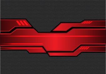 Rouge métallique futuriste avec la conception de maille de cercle noir