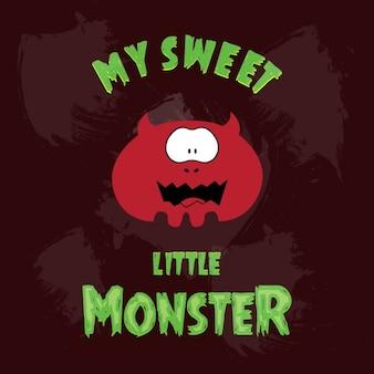 Rouge monstre fond